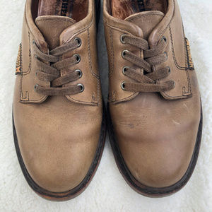 Mephisto Leather Lace up Chunky Rubber Soled Shoe